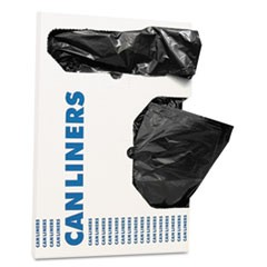 "Can Liners, 16 gal, 1 mil, Black, 24"" x 32"", 250/Carton"