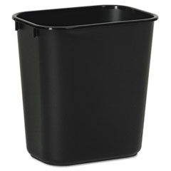 Soft-Sided Wastebasket, 14 qt, Plastic, Black