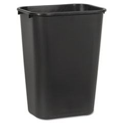 Soft-Sided Wastebasket, 41 qt, Plastic, Black