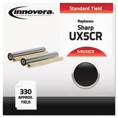 Compatible UX5CR (UX5CR) Thermal Transfer Print Cartridge, 165 Page-Yield, Black