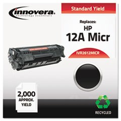 Remanufactured Q2612A(M) (12AM) MICR Toner, 2000 Page-Yield, Black