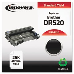 Remanufactured DR520 Drum Unit, 25000 Page-Yield, Black