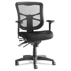 Elusion Series Mesh Mid-Back Multifunction Chair, Black