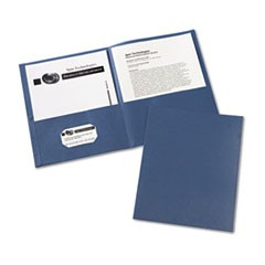Two-Pocket Folder, 20-Sheet Capacity, Dark Blue, 25/Box
