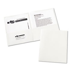 Two-Pocket Folder, 20-Sheet Capacity, White, 25/Box