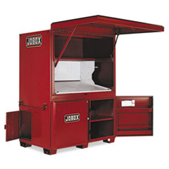 "Heavy-Duty Field Office, 63"" x 42"" x 80"", Steel, Red"
