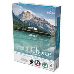 EarthChoice Office Paper, 92 Bright, 20 lb, 8.5 x 11, White, 500 Sheets/Ream, 10 Reams/Carton