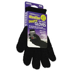 SMARTer Dual Action Microfiber Gloves, One Size, Black