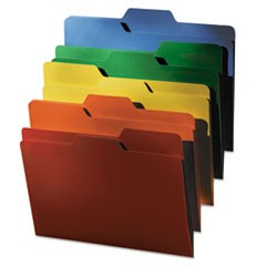FindIt File Folders, 1/3 Cut, 11 pt. Manila, Letter, Assorted, 80/Pack