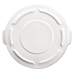 Round Brute Flat Top Lid, 19 7/8 x 1 4/5, White
