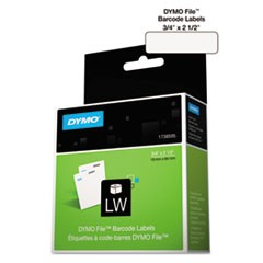 LabelWriter Bar Code Labels, 3/4 x 2 1/2, White, 450 Labels/Roll