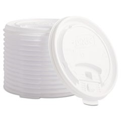 Plastic Lids for Hot Drink Cups, 12 & 16oz, White, 1000/Carton