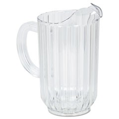 Bouncer Plastic Pitcher, 48 oz, Clear, Polycarbonate