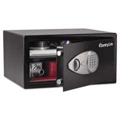 Electronic Lock Security Safe, 1 cu ft, 16.94w x 14.56d x 8.88h, Black