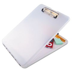 "SlimMate Storage Clipboard, 1/2"" Clip Capacity, Holds 8 1/2 x 11 Sheets, Clear"