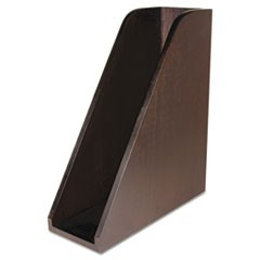 Curved Magazine File, Bamboo, 3 1/4 x 10 x 11 1/2, Espresso Brown
