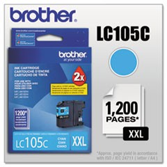 LC105C Innobella Super High-Yield Ink, 1200 Page-Yield, Cyan