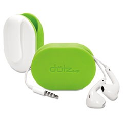 Dotz Flex Earbud Wrap W/Belt Clip, Lime Green