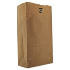 #20 Paper Grocery, 57lb Kraft, Extra Heavy-Duty 8 1/4x5 5/16 x16 1/8, 500 bags