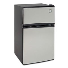 Avanticounter-Height 3.1 Cu. Ft Two-Door Refrigerator/Freezer, Black/Stainless Steel