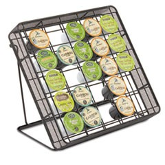 Stand-up Hospitality Organizer, 25 Compartments, 8 1/4w x 11 1/2d x 10 1/2h, Bk