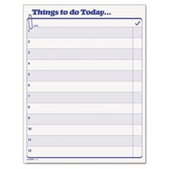 """Things To Do Today"" Daily Agenda Pad, 8 1/2 x 11, 100 Forms"
