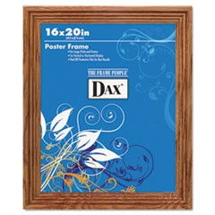 Plastic Poster Frame, Traditional Clear Plastic Window, 16 x 20, Medium Oak