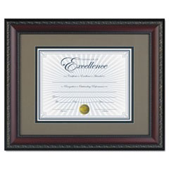 World Class Document Frame w/Cert, Walnut, 11 x 14, 8 1/2 x 11