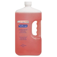 Antibacterial Liquid Hand Soap Refill, Crisp Clean, Pink, 1gal Bottle