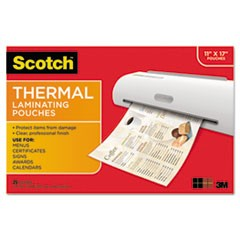 Menu Size Thermal Laminating Pouches, 3 mil, 17 1/2 x 11 1/2, 25/Pack