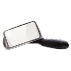 "2X Rectangular Handheld Magnifier with Acrylic Lens, 2"" x 4"""