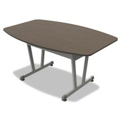 Trento Line Conference Table, 59-1/8w x 39-1/2d x 29-1/2h, Mocha/Metallic Gray