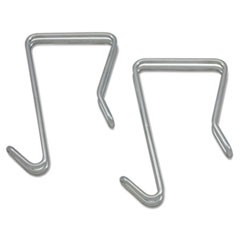 Alera Single Sided Partition Garment Hook, Silver, Steel, 2/Pk