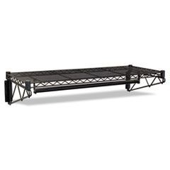 Steel Wire Wall Shelf Rack, 36w x 18d x 7-1/2h, Black