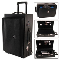 Rolling Sample/Catalog Case, 14 1/4 x 23 1/2 x 11 1/4, With Locks, Koskin, Black