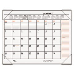 Two-Color Monthly Desk Pad Calendar, 22 x 17, 2018