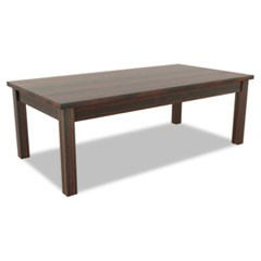 Alera Valencia Series Occasional Table, Rectangle,47-1/4 x 20 x 16 3/8, Mahogany