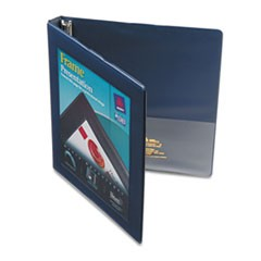 "Framed View Heavy-Duty Binders, 3 Rings, 0.5"" Capacity, 11 x 8.5, Navy Blue"