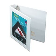 "Framed View Heavy-Duty Binders, 3 Rings, 1.5"" Capacity, 11 x 8.5, White"