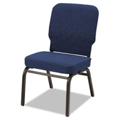 Oversize Stack Chair, Navy Fabric Upholstery, 2/Carton