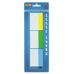 "Write-On Index Tabs, 1/5-Cut Tabs, Assorted Colors, 2"" Wide, 30/Pack"