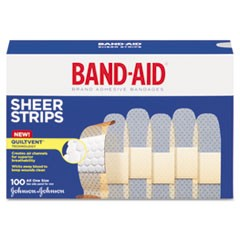"Sheer Adhesive Bandages, 3/4"" x 3"", 100/Box"