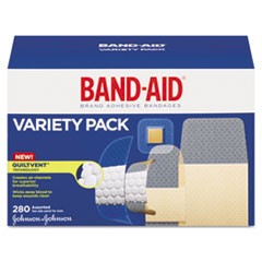 Sheer/Wet Adhesive Bandages, Assorted Sizes, 280/Box