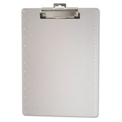 "Plastic Clipboard, 1/2"" Capacity, Holds 8 1/2 x 11, Clear"