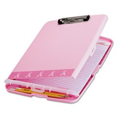 Officematebreast Cancer Awareness Clipboard Box, 3/4  Capacity, 8 1/2 X 11, Pink