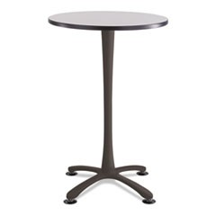 "Cha-Cha Bistro Height Table Base, X-Style, Steel, 42"" High, Black"