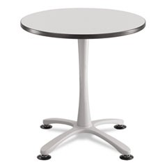 "Cha-Cha Sitting Height Table Base, X-Style, Steel, 29"" High, Metallic Gray"