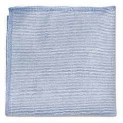 Microfiber Cleaning Cloths, 12 x 12, Blue, 24/Pack