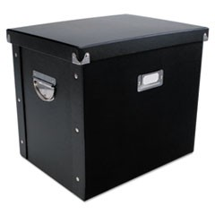 File Box, 13 x 10 x 11, Letter, Paperboard, Black