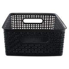 "Weave Bins, 13.88"" x 10.5"" x 4.75"", Black, 2/Pack"